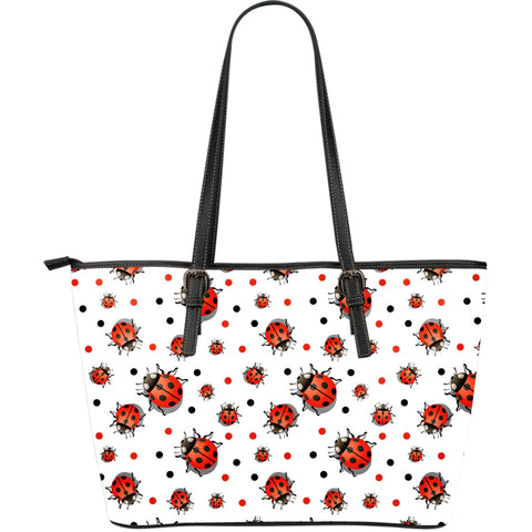 Ladybird Large Leather Tote Bag