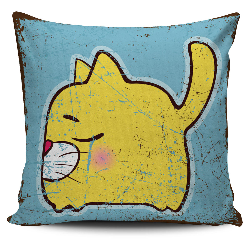 Cute Yellow Cat  Pillow Cover