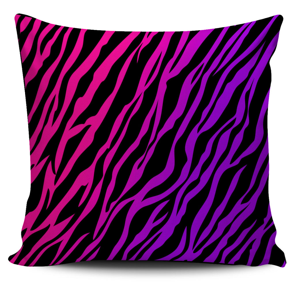 Rainbow Zebra Pillow Cover