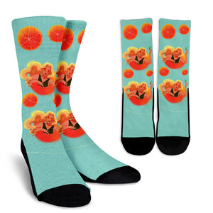 Blonde-Swim-01 Crew Socks