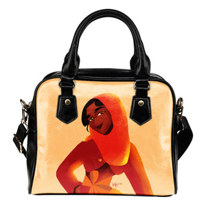 Orange-Girl-01 Shoulder Handbag