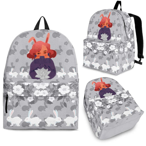 Bunny-Girl-Gray-01 Backpack