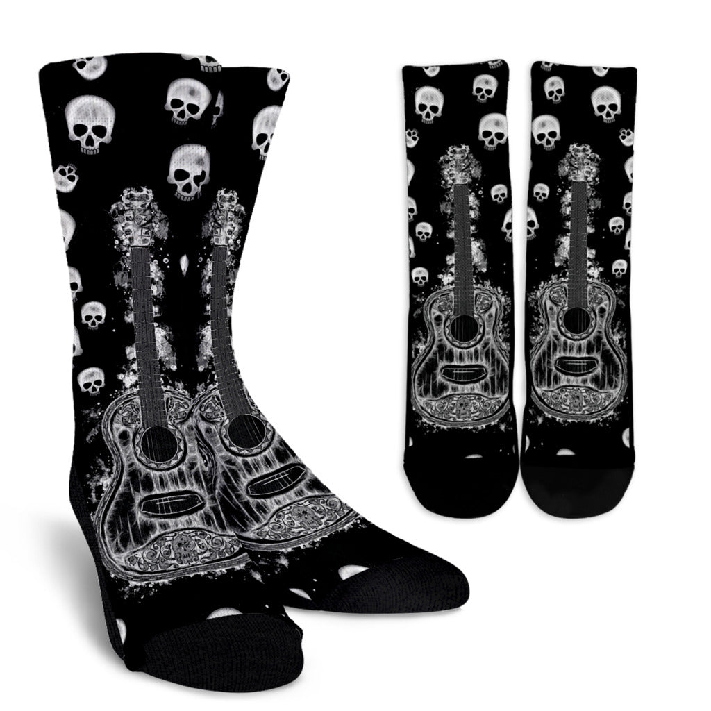 Guitar and Skulls Socks
