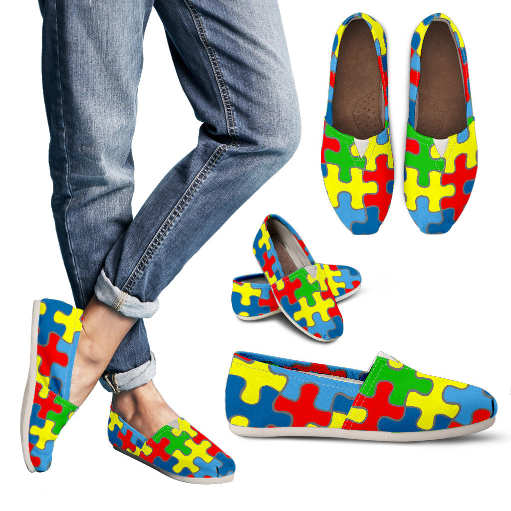 Autism Awareness Women's Casual Shoes