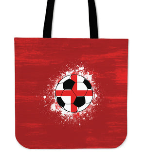 Red BG England Soccer Tote Bag