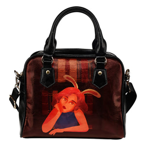 Library-Bunny-Girl-01 Shoulder Handbag