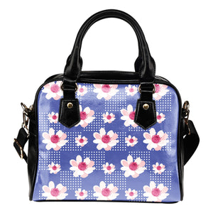 Purple-Flower-01 Shoulder Handbag