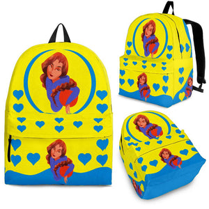 Sport-Club-Girl-01 Yellow and Blue Backpack