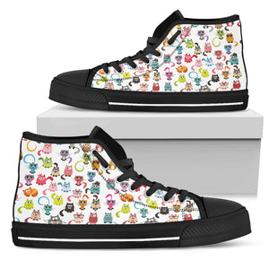 Colorful cats Women's High Top