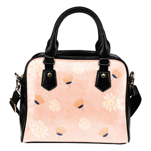 Peach-Flower-03 Shoulder Handbag