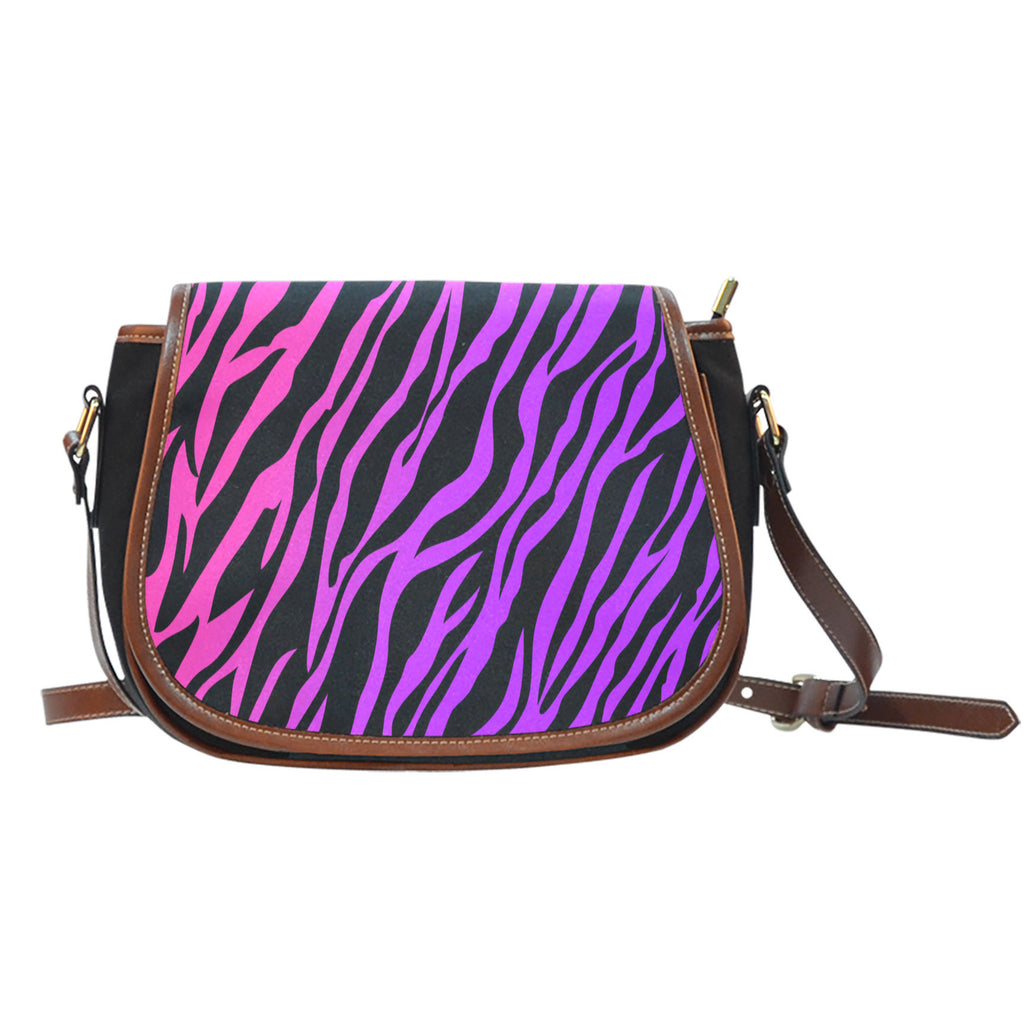 Rainbow Zebra Ladies Saddle Bag