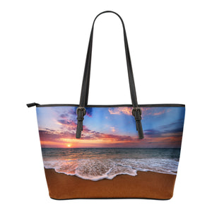 Sunset Shore Small Leather Tote