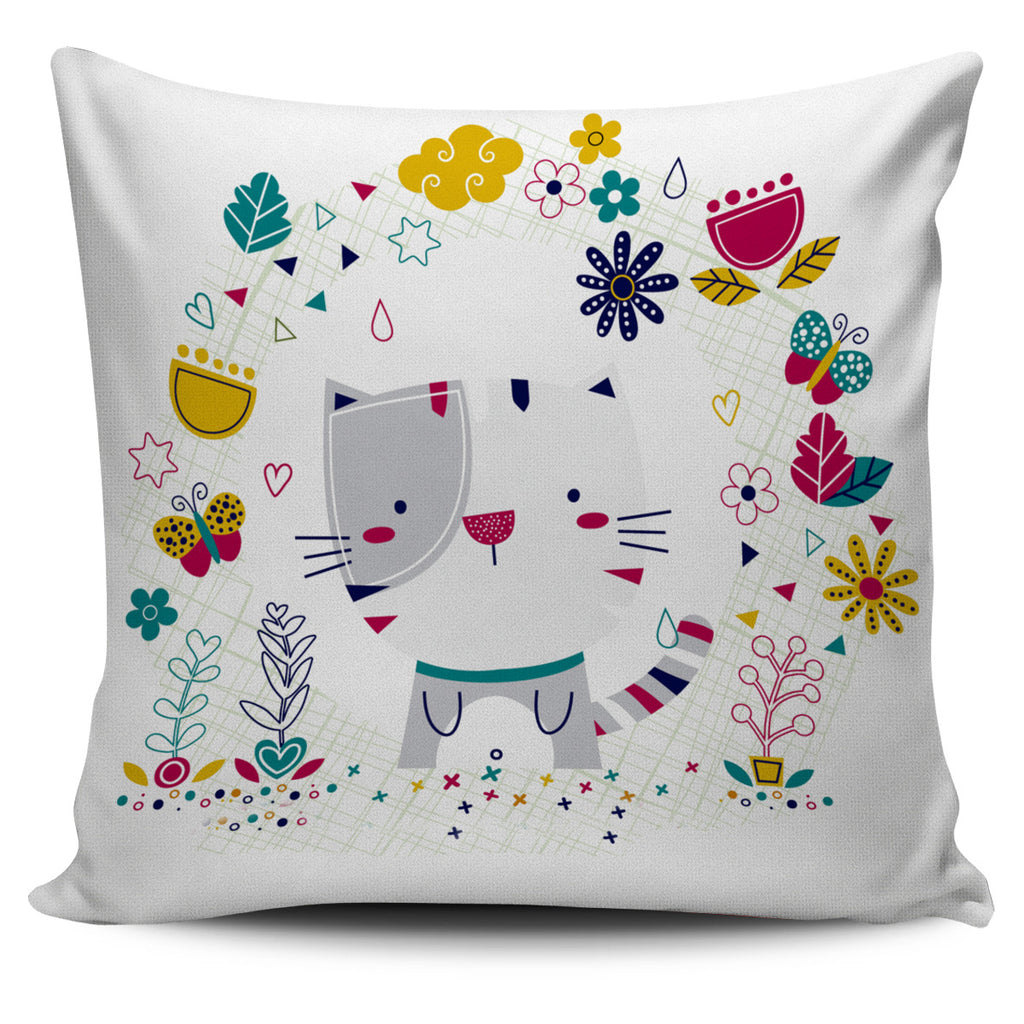 Cute Kitty Pillow Cover