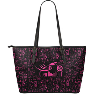 PINK Open Road Girl LARGE PU LEATHER Tote