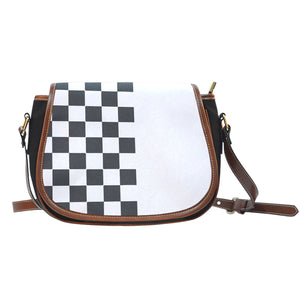 Car-Stripes-Design-02 Canvas/Leather Saddle Bag