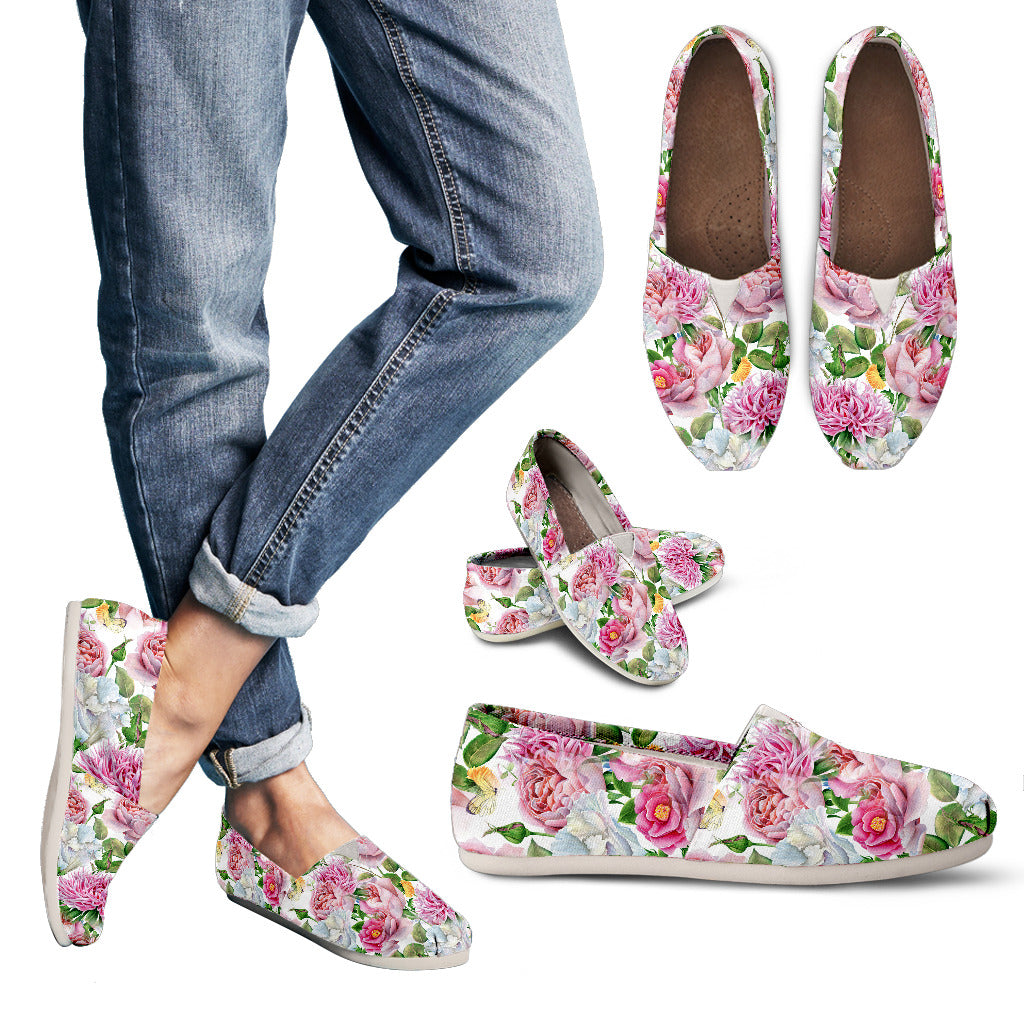 Watercolor Floral Women's Casual Shoes