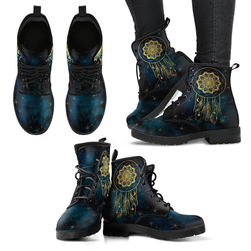 Gold Dream Catcher Women's Leather Boots