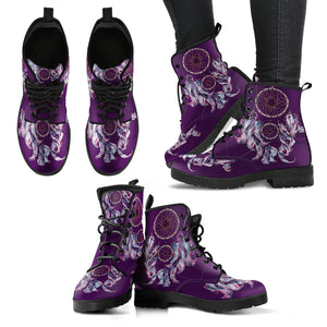 Purple Dream Catcher Women's Leather Boots