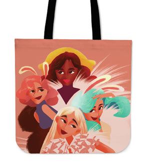 Pink-Friends-01 Tote Bag