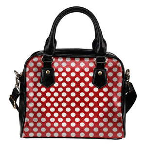 Polka-Dots-Design Shoulder Handbag