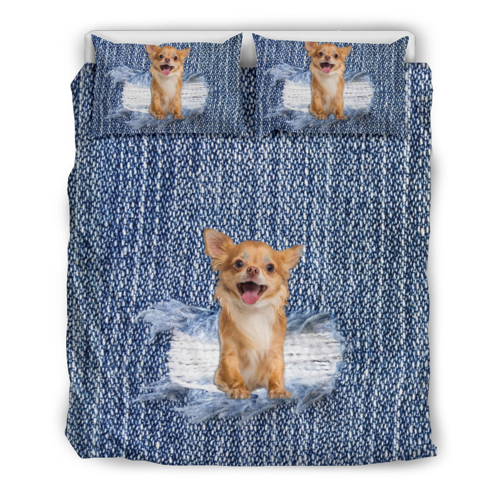 Chihuahua Break The Wall Bedding Set