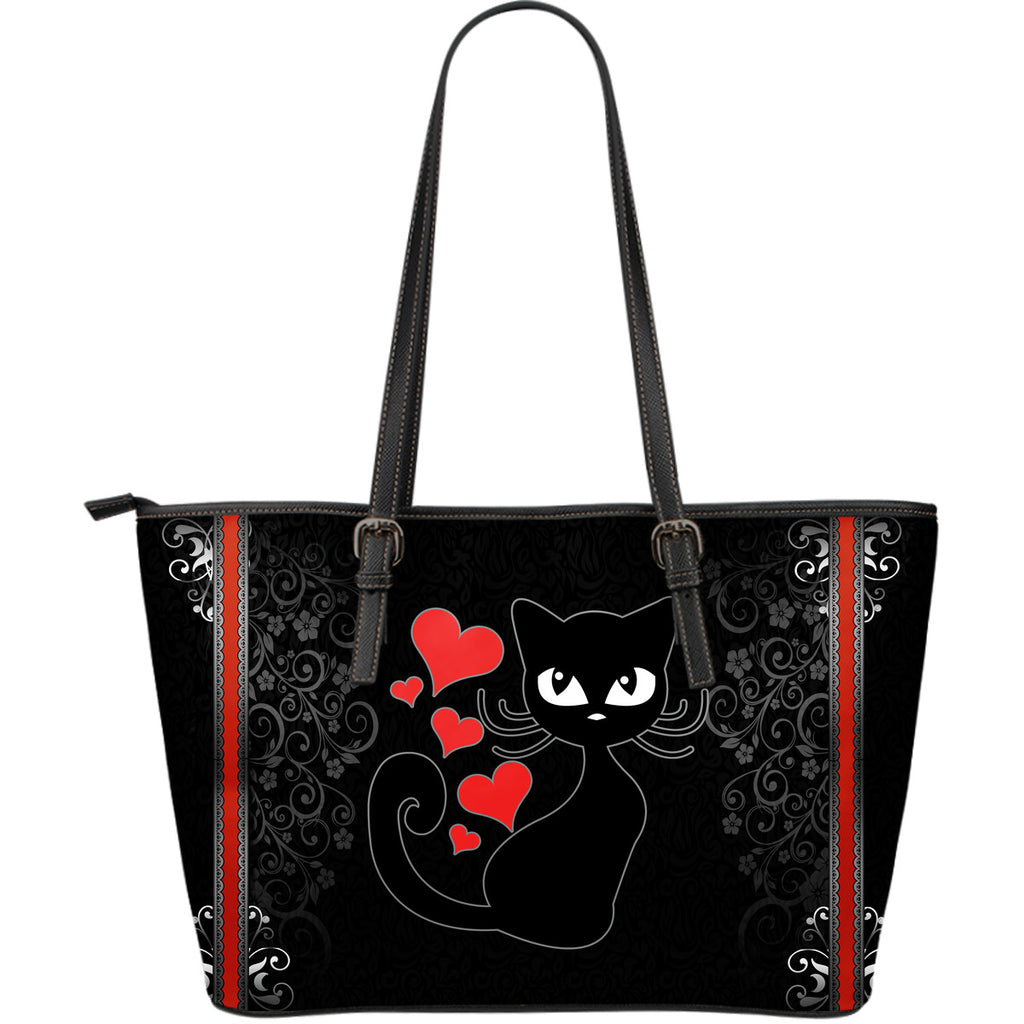 Kitty Love Large Leather Tote Bag