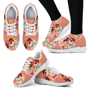 Pink-Friends-01 Women's Athletic Sneakers
