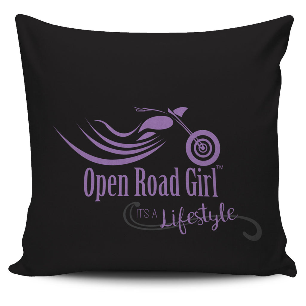 Purple Open Road Girl Pillow Cover