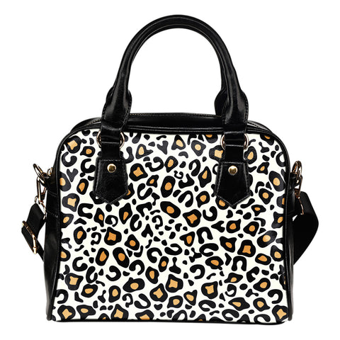 White Cheetah Print Pop Art - Shoulder Bag