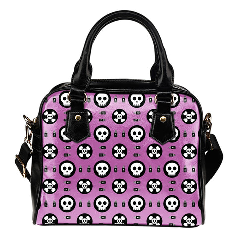 Skulls and Potion Leather Shoulder Bag