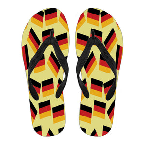 GERMANY'S PRIDE! GERMANY'S FLAGSHOE - Women's Flip Flops (yellow bg)
