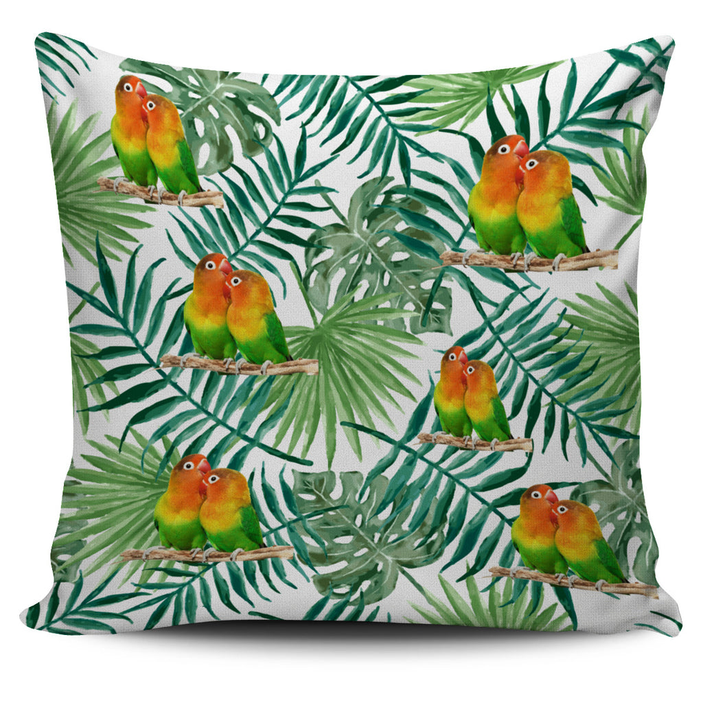 Pillow Cover Tropical Love Birds
