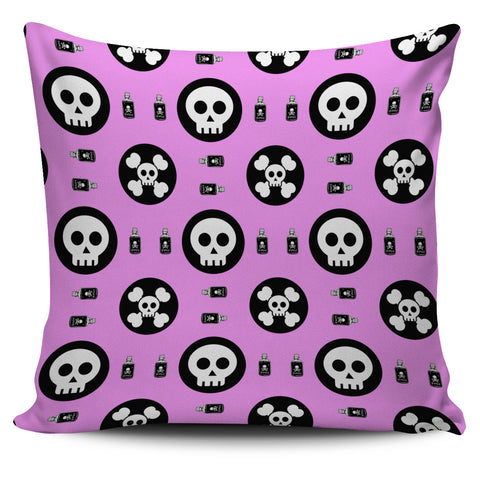 Skulls and Potion Pillow Cover