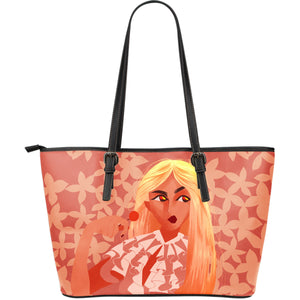Sweet-Blonde-01 Large Leather Tote