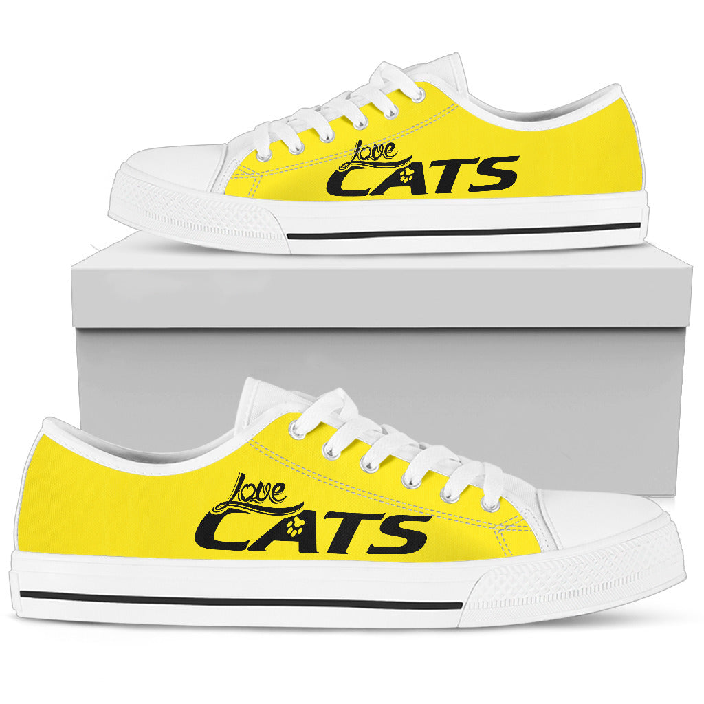 Love Cats Yellow Women's Low Top Shoe