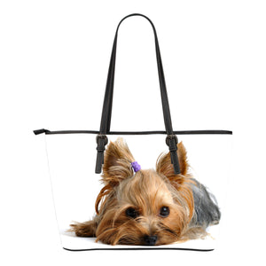 Yorkie Small Leather Tote
