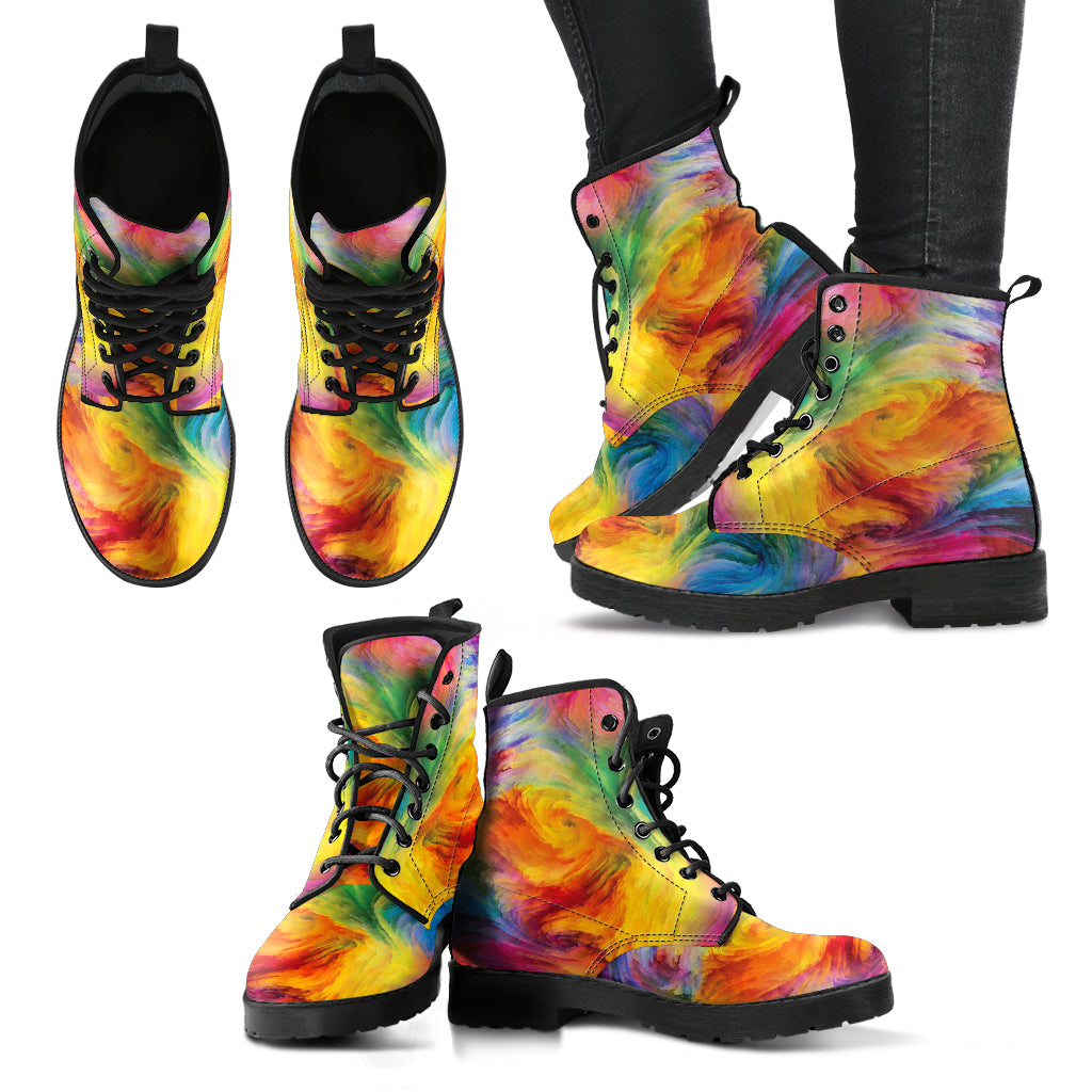 Colorful Women's Leather Boots