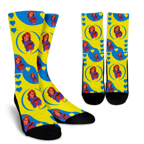 Sport-Club-Girl-01 Yellow and Blue Crew Socks