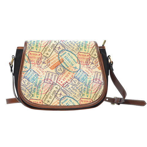 Travel Stamps Saddle Bag