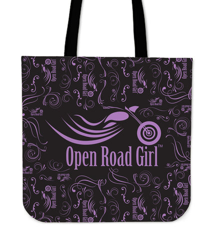 PURPLE Open Road Girl CLOTH Tote