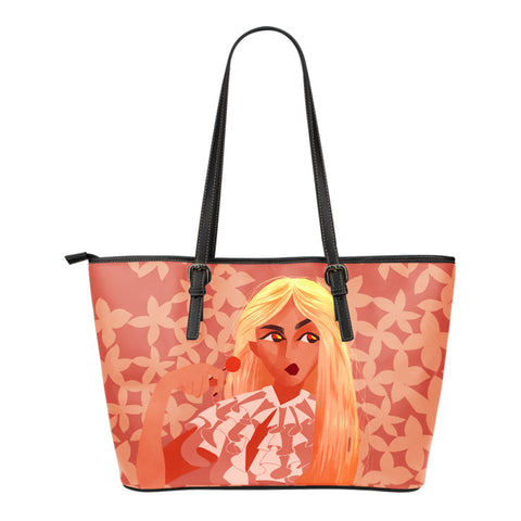 Sweet-Blonde-01 Small Leather Tote