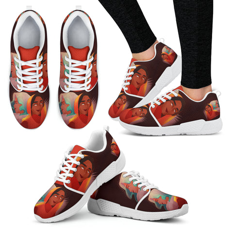 Friends-Girl-01 Women's Athletic Sneakers