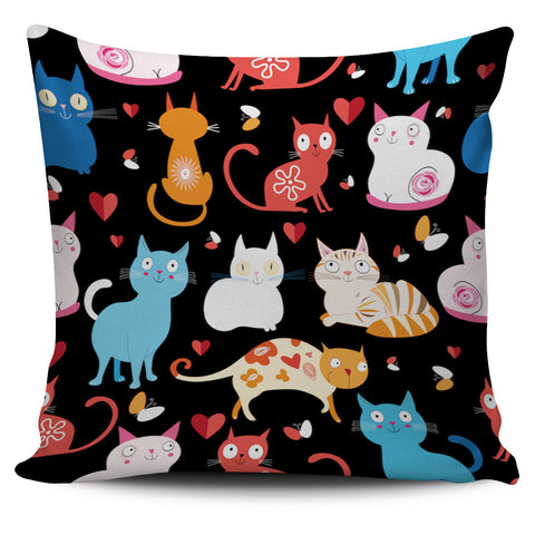 Colorful Grumpy Cat Pillow Cover