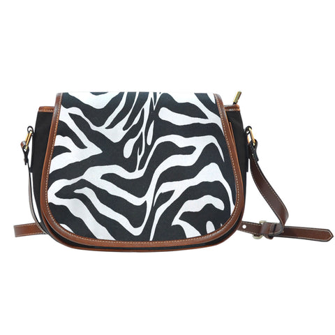 Zebra Print Ladies Saddle Bag