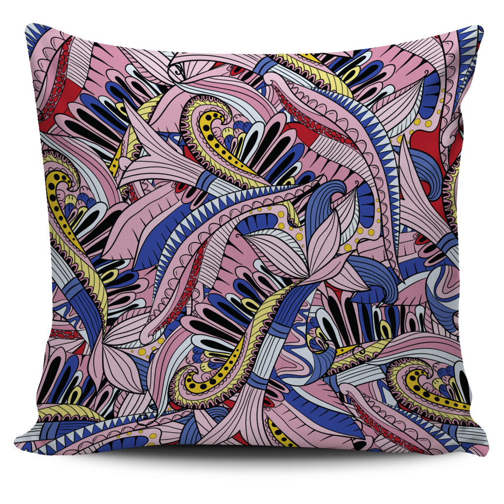 Funky Patterns in Pinks - Single Sided Pillow Cover