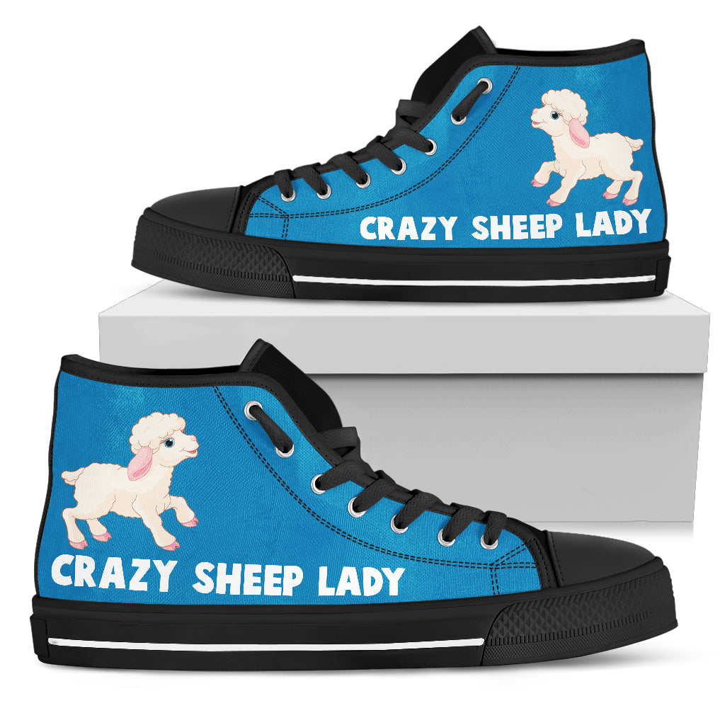 Crazy Sheep Lady Women's High Top