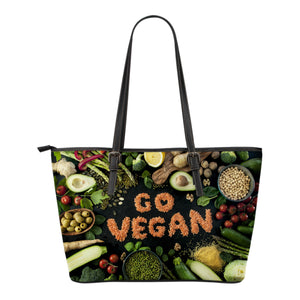 Go Vegan Small Leather Tote