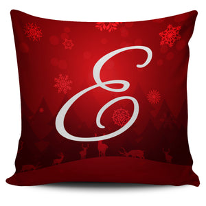 Christmas Love Pillow Cover - Letter E