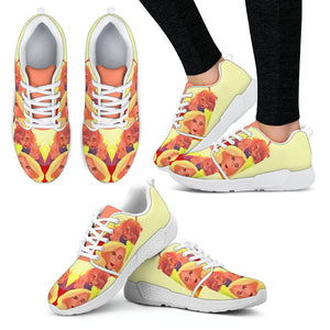 Yellow-Friends-01 Women's Athletic Sneakers