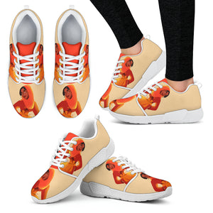 Orange-Girl-01 Women's Athletic Sneakers